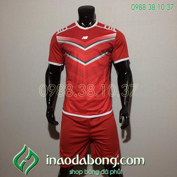 Áo Bóng Đá Ko Logo NB HML Màu Đỏ