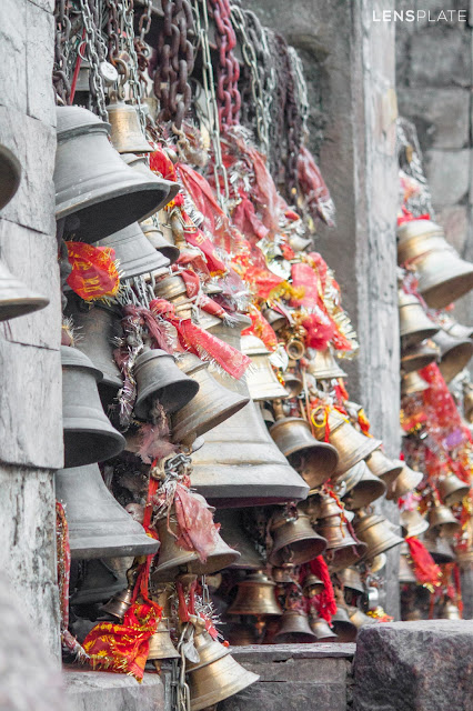 Bells at Kamakhya Temple in Guwahati Assam