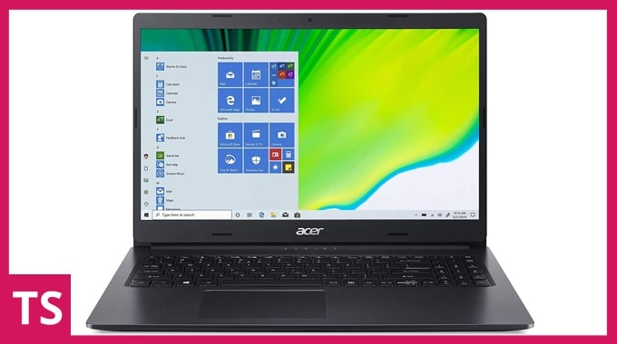 Acer Aspire 3 A315-57G laptop for gaming and programming under Rs 50K in India.