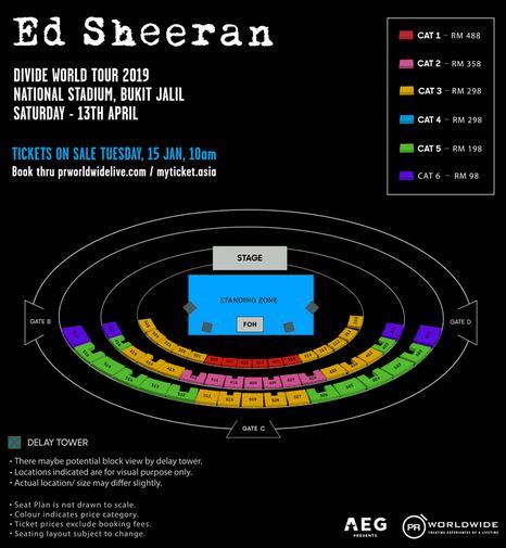 Nuclear Tumbleweeds Ed Sheeran Divide Tour 2019 Kuala Lumpur