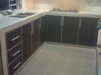 Kabinet Dapur Rumah Teres Setingkat Desainrumahid