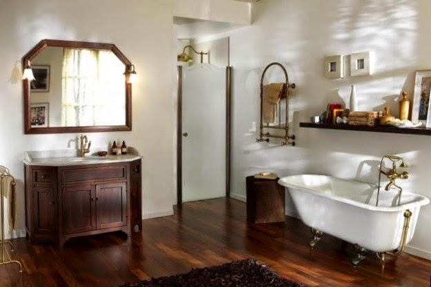 decoración baño rústico