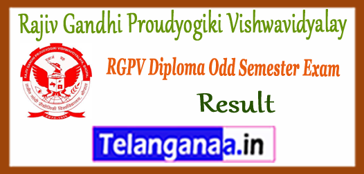 RGPV Diploma Rajiv Gandhi Proudyogiki Vishwavidyalay 1st 3rd 5th 7th Semester Result 2017-18