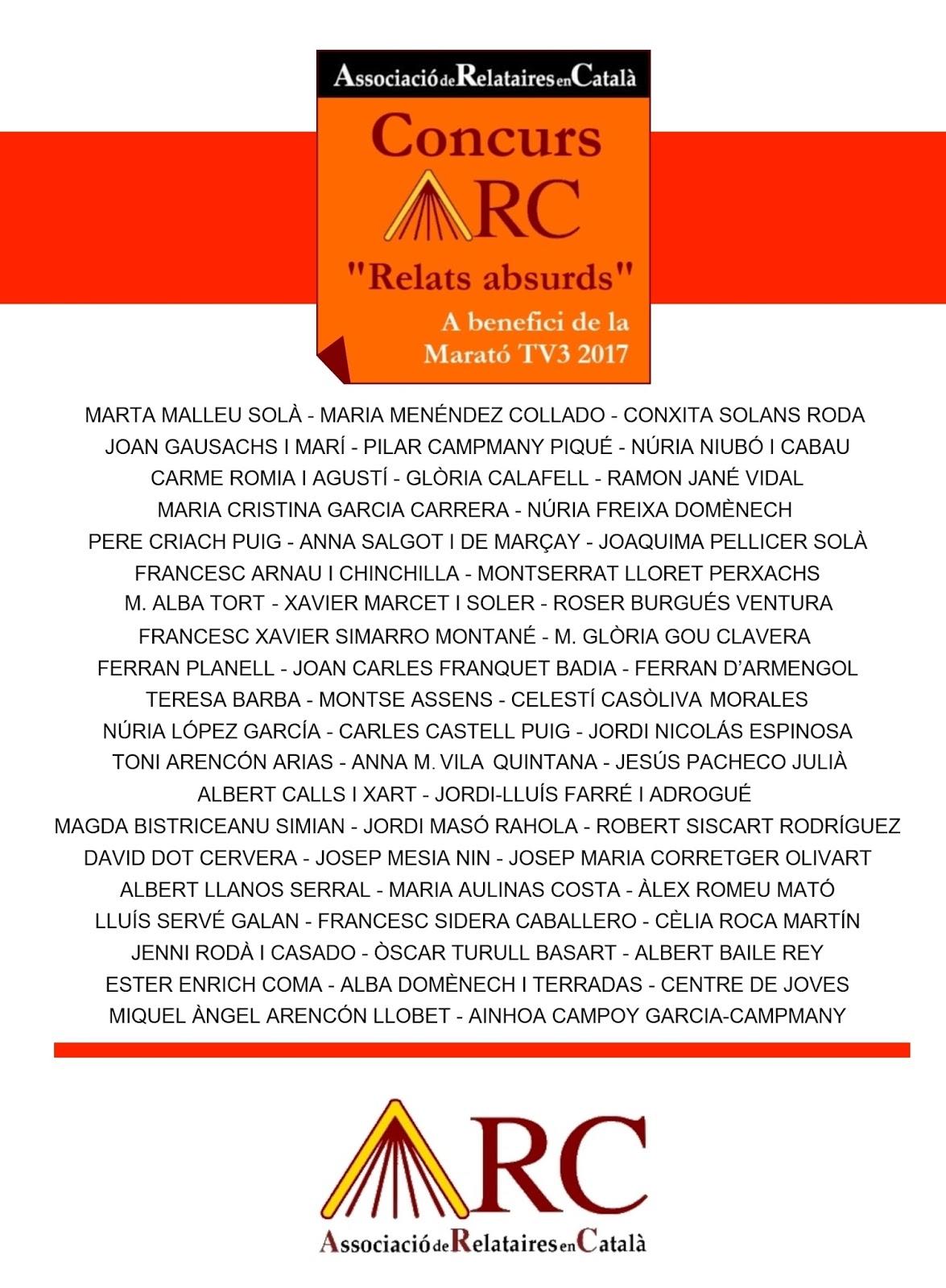 Concurs ARC de Relats absurds - Autores i autors