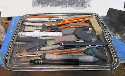 art charcoal sketch tools materials