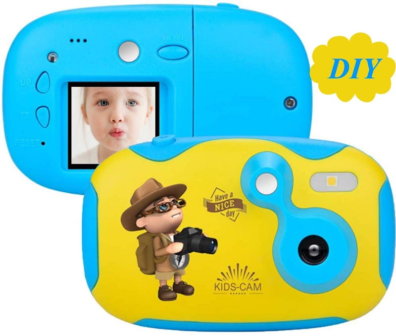 60%off Kids Camera,Kids Digital Camera Mini Cute Toy Camera for Kids with 1.44 Inch Screen ,share Creative DIY Video Cam with Sticker + Replacement Shell