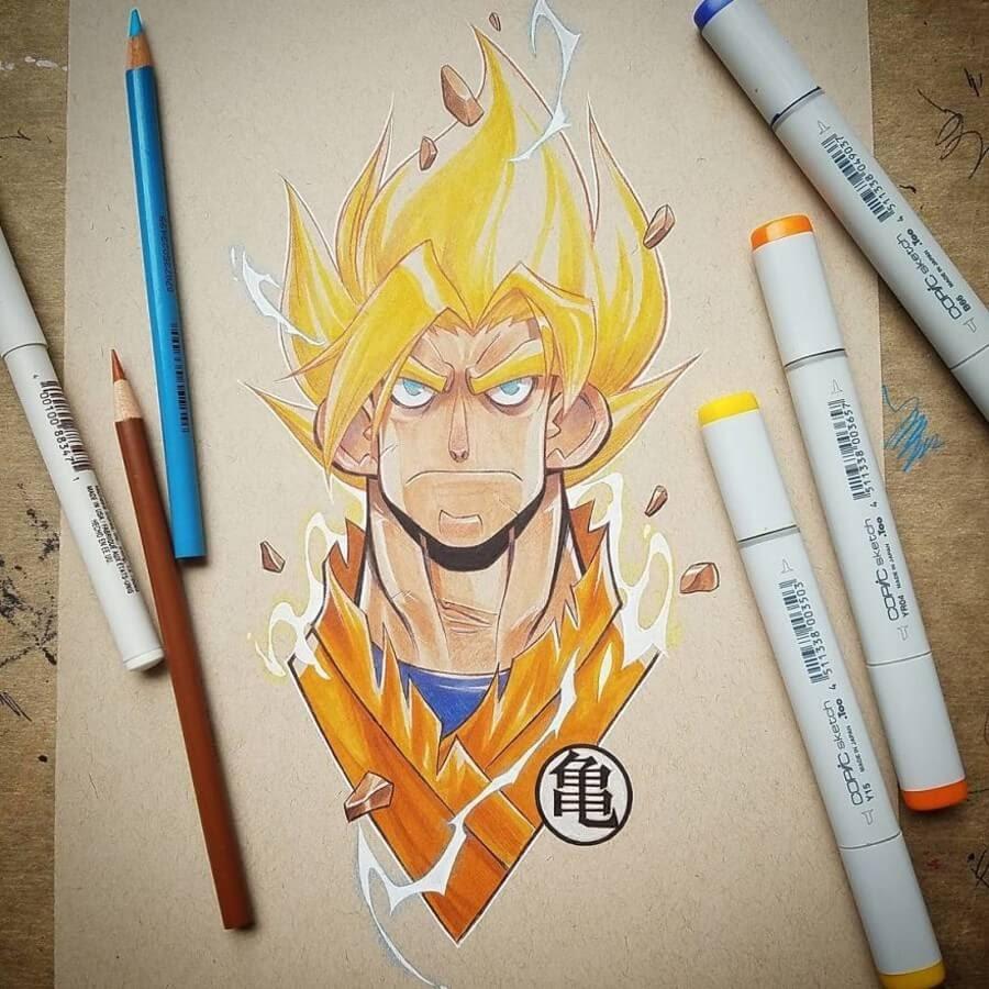 11-Goku-Dragonball-Z-Jeremiah-Hause-www-designstack-co