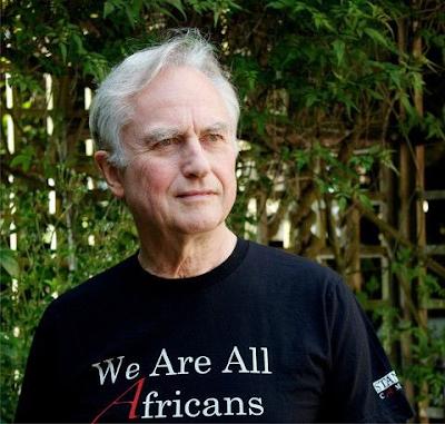 Dawkins in silly teeshirt