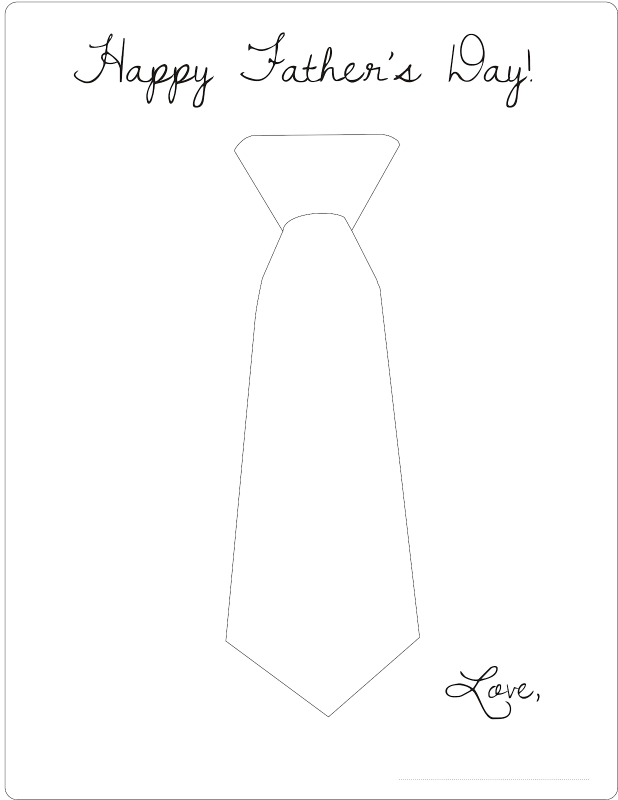 fathers day coloring pages of ties | Free Printable - Father's Day Coloring Page