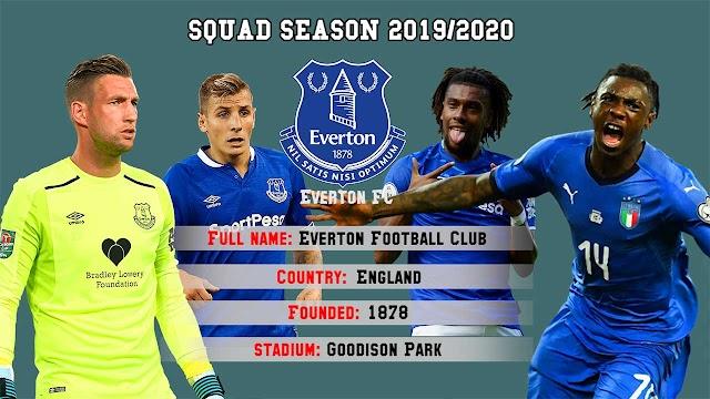 Everton FC Squad Premier League 2019/2020