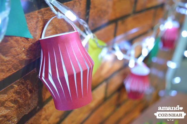 Decoração fácil para as Festas Juninas: Lanternas de Papel