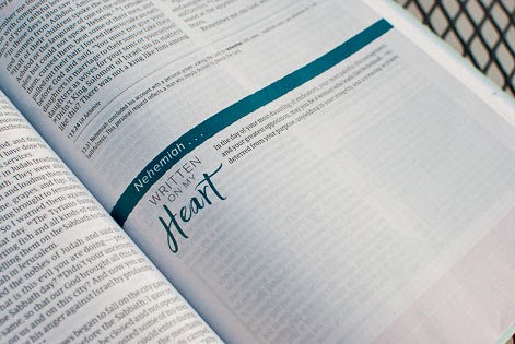 Written On My Heart Highlights inside of the CSB Study Bible For Women