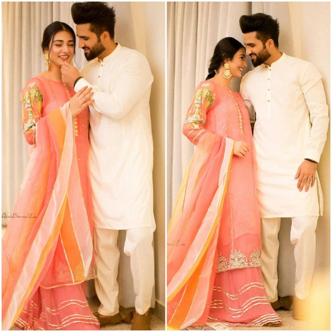 Sarah Khan and Falak Shabir Giving Stunning Couple Goals