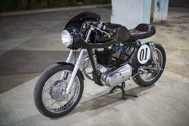 J&D Custom Co Built Cafe Racer Kit for Royal Enfield Bullet