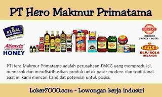 Lowongan Kerja Operator PT Hero Makmur Primatama Tangerang 2020
