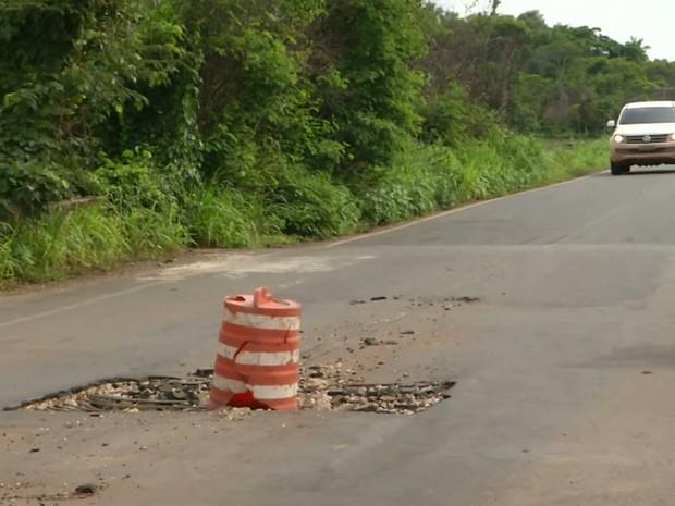 Motoristas enfrentam dificuldades ao trafegar pela MA-034