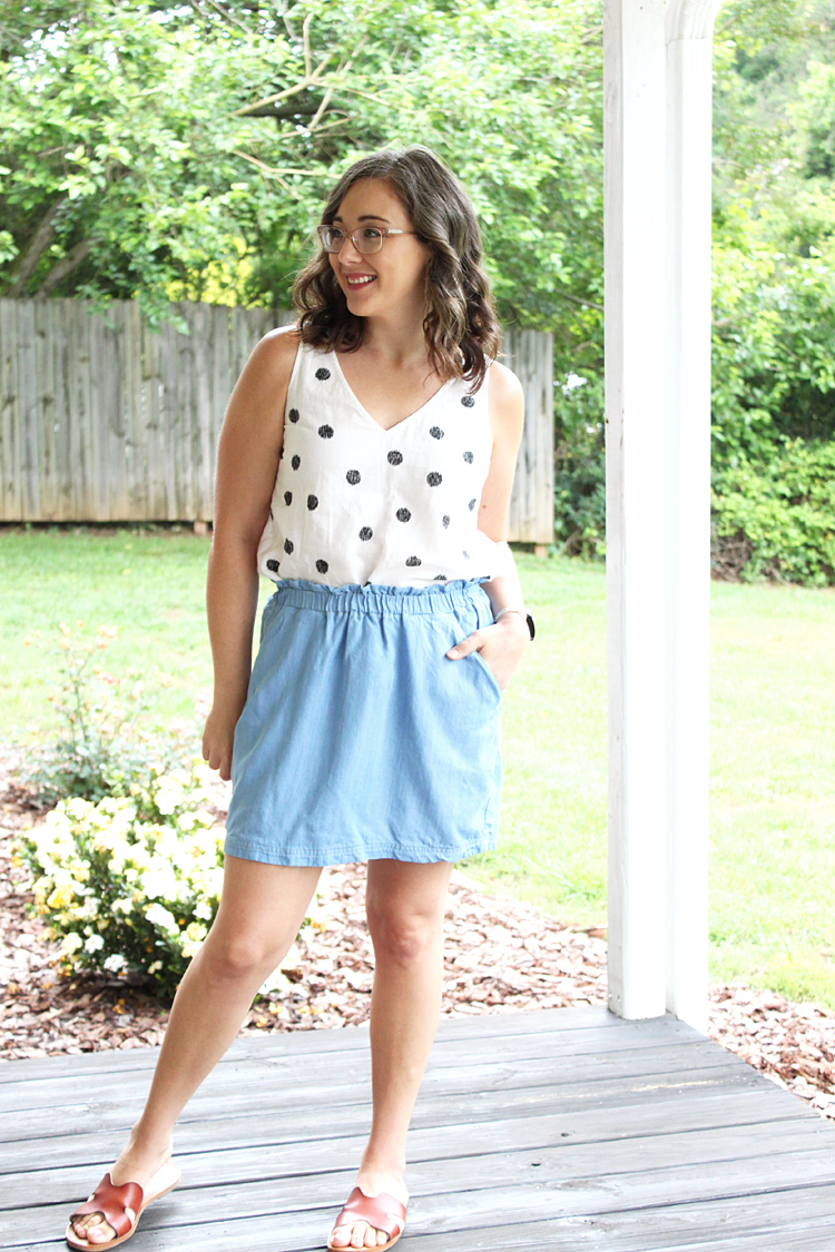 Paperbag Waist Allegro Skirt Hack // Sewing For Women