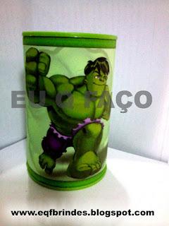 Cofrinho Hulk Kid, Lembrancinha Hulk Kid, brinde Hulk Kid, tema Hulk Kid, festa Hulk Kid,