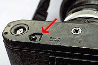 tombol rewind Canon A-1