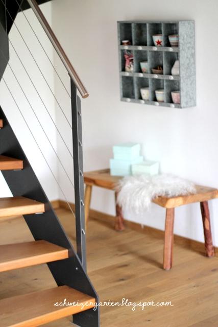 Ein Schweizer Garten: DIY - Sitzbank aus Holz