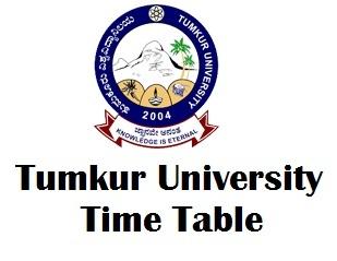 Tumkur University Degree Exam Time Table 2018