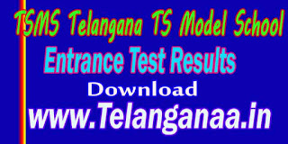 TSMS Telangana TS Model School 10th Class SSC Entrance Test Results Download