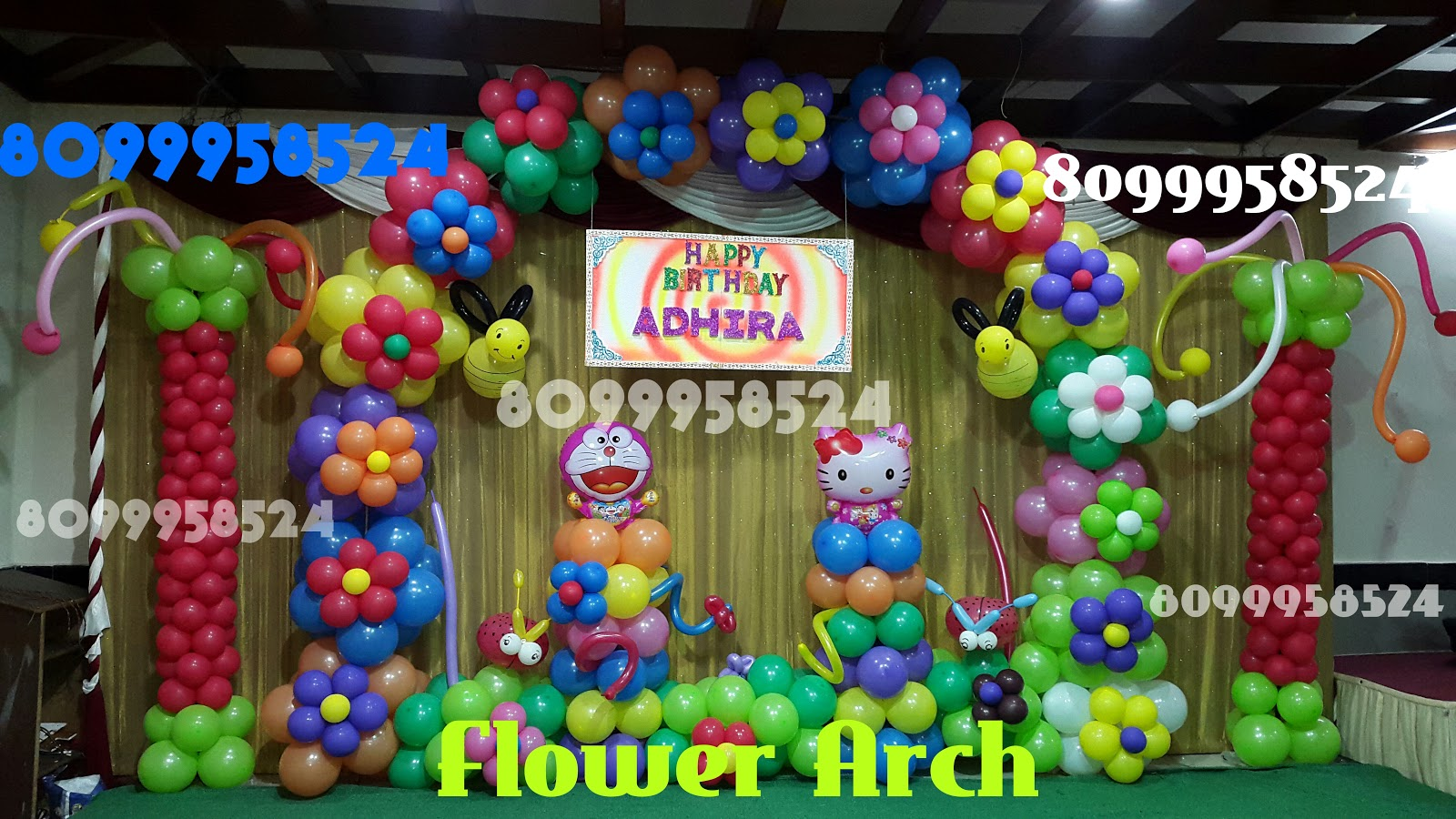 Delight party decors top 8 simple balloon decorations for Simple balloon decoration ideas at home