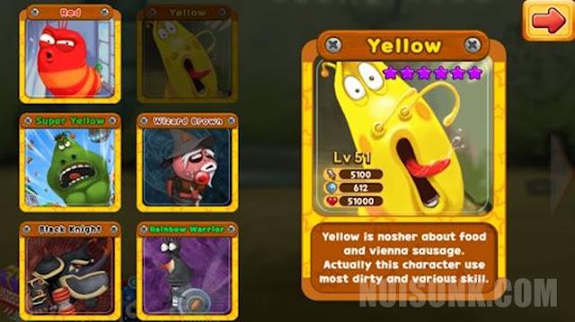 Gameplay Larva Heroes Mod Apk