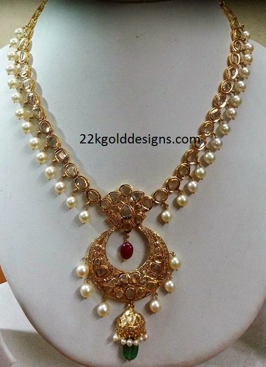 Pachi Necklace with Chandbali Pendant