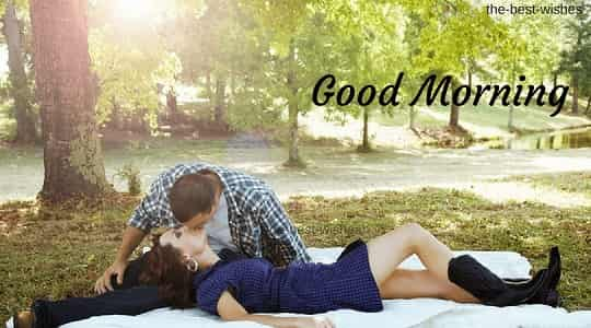 Good Morning Kiss to my love Images in park