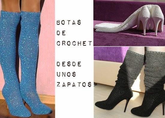 botas, crochet, tejer, transformación, reciclaje, labores