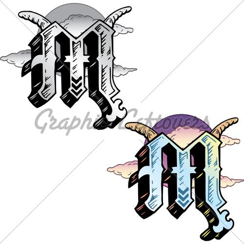Tattoo Letter M Designs Traffic Club