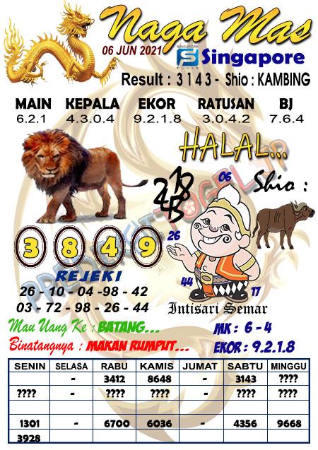 Syair Naga Mas SGP Minggu 06 Juni 2021