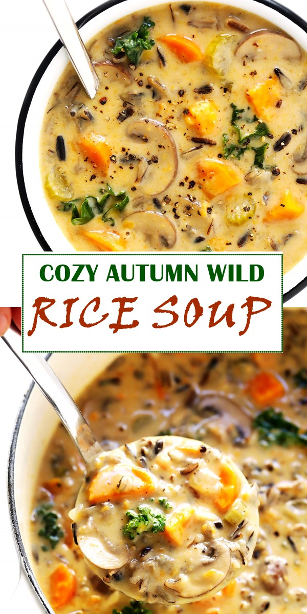 COZY AUTUMN WILD RICE SOUP #souprecipes