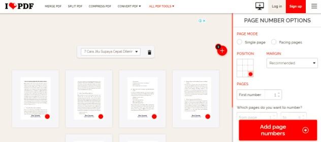 Cara Menambah Nomor Halaman di PDF Online
