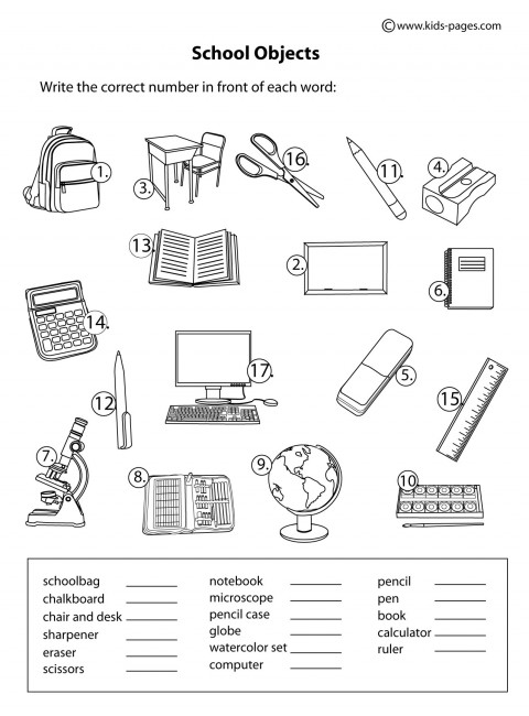 inglês4classes: school objects