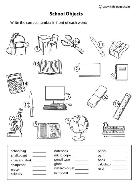 ingl s4classes school objects. Black Bedroom Furniture Sets. Home Design Ideas