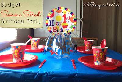 Budget Sesame Street Birthday Party