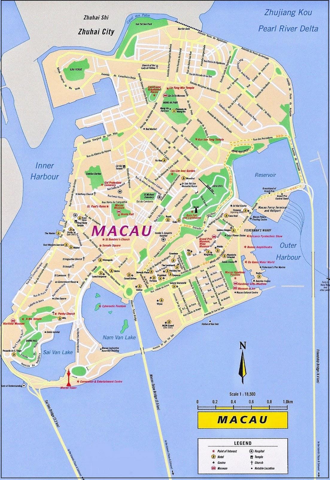 Peta Negara Makau