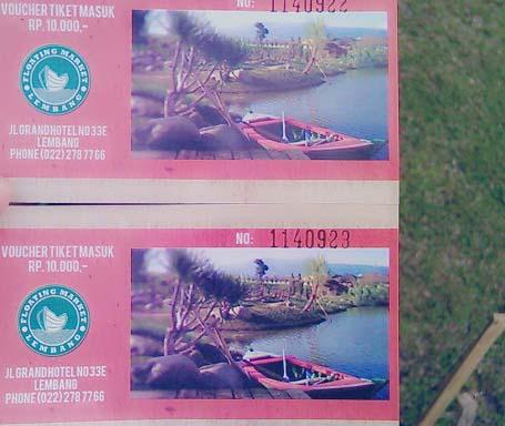Tiket Masuk Floating Market Lembang