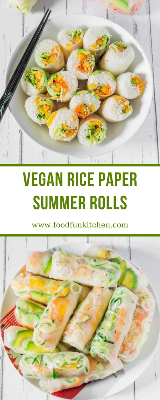 VEGAN RICE PAPER SUMMER ROLLS