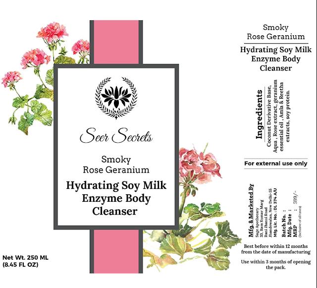 Seer Secrets Smoky Rose Geranium Body Cleanser