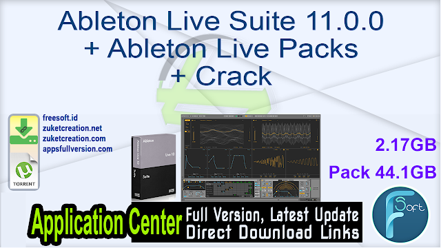 Ableton Live Suite 11.0.0 + Ableton Live Packs + Crack