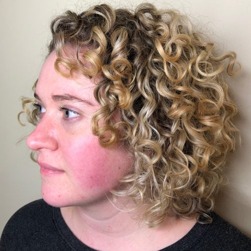 Cute Short Curly Layered Haircut