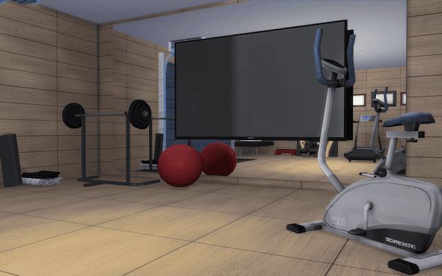 salle de sport Sims 4