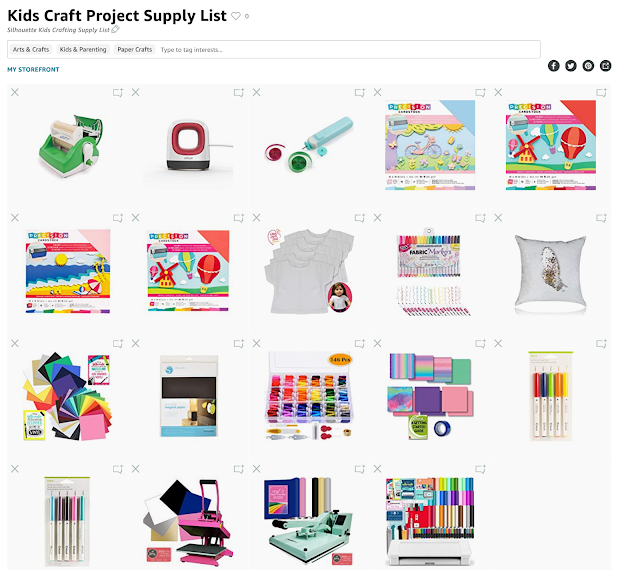 Kids Crafts, Kids, Silhouette for kids, supply list, kids projects