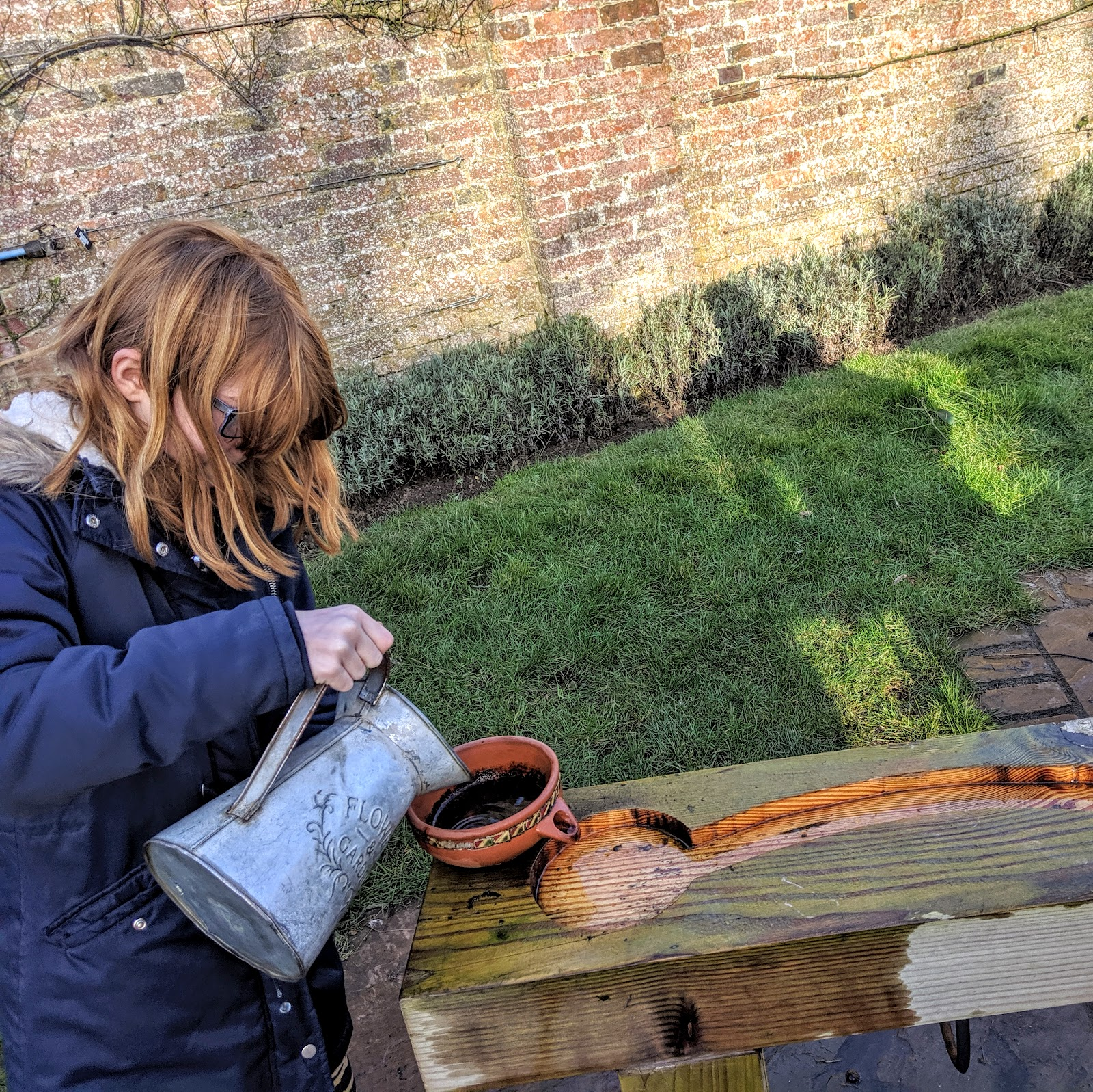 Howick Hall Snowdrop Walk & Sensory Garden - water play