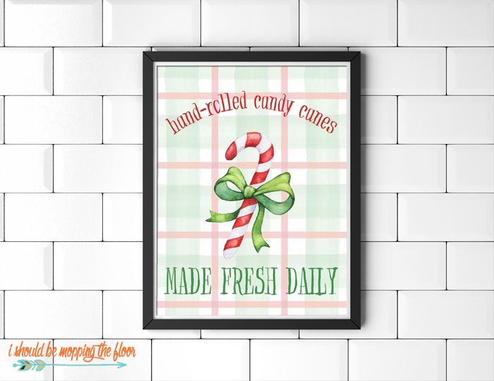 Candy Cane Printable