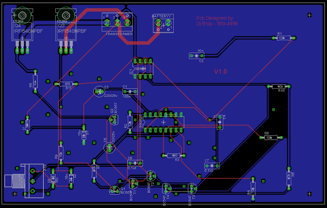 SG3525 inverter PCB component layout