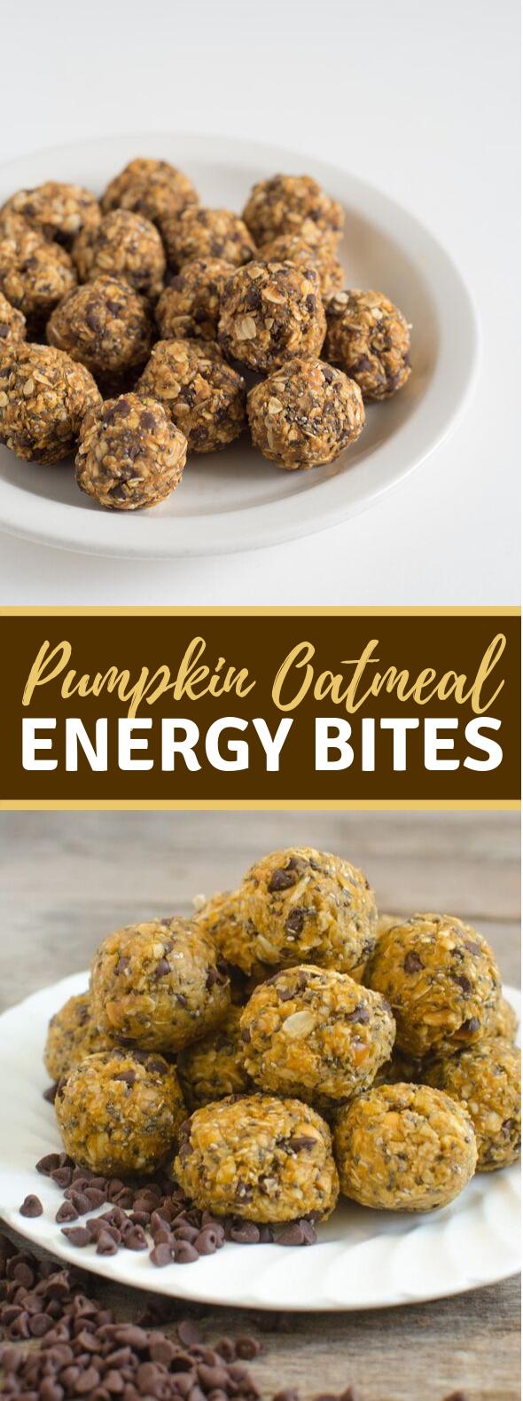 No-Bake Pumpkin Oatmeal Energy Balls #healthydiet #healthysnack